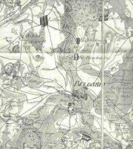 Klein Panknin auf der von Schmettau`schen Karte von 1780